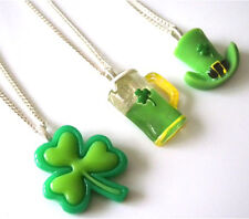 """GORGEOUS ST PATRICKS DAY HANDMADE NECKLACES 18"""" - FREE GIFT BAG"""