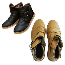 Mens Winter Warm Casual Leather High Top Loafers Shoes Ankle Boots Sneakers J8J6
