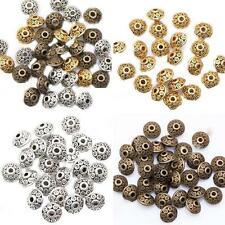 100Pcs Rondelle Antique Metal Bicone Spacer Beads 6mm for Jewelry Making Perfect