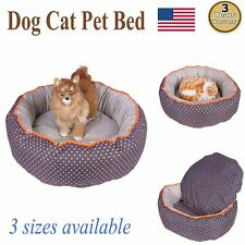 Dog Bed Pet Blanket Round Cushion Warm Soft Cute Bed Washable Puppy Cat Pad Mat