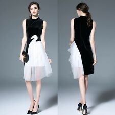 Blue Black Woman Women Dress Evening Dresses Prom Formal Gowns Ceremony Party