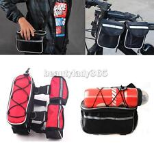 Bicycle Bike Frame Pannier Cycling Front Tube Bag Pouch w/ Shoulder Belt & Cover