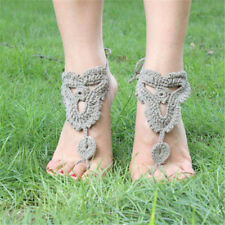 Bridal Yoga Crochet Barefoot Anklet Knit Anklet Sandals Beach Foot Jewelry