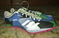 ADIDAS SprintStar Blue Green White Pink Track Field Spikes Shoes NEW Womens 6.5