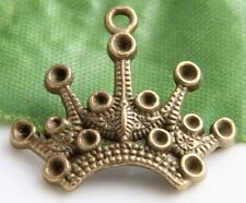 Free Ship 14Pcs Bronze Plated Crown Charms Pendant 24x21mm