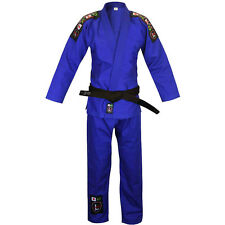 NEW! Larai Model Tiba Brazilian Jiu Jitsu BJJ Uniform Gi Kimono Blue FREE BELT