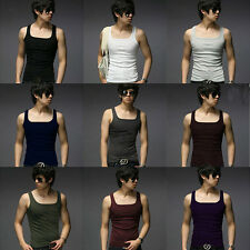 Hot Men's Casual Tank Tops Slim Fit Sexy Stylish Men Sleeveless T-Shirts Vests /