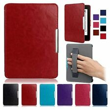 Folio Ultra Slim Magnetic Leather Holder Case Wake Sleep Cover for Amazon Kindle