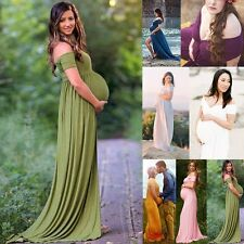 Fashion Maternity Photography Props Long Pregnancy Dresses Pregnant Clothes
