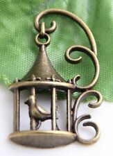 Free Ship 10Pcs Bronze Plated Birdcage Charms Pendant 35x20mm