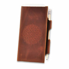 Genuine Leather Travel Case Passport Tickets Documents Boarding Pass Holder