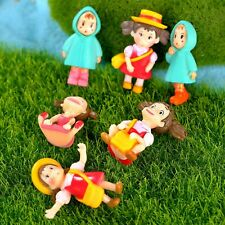 Fairy Garden Miniature Girl Human Figurine Decor Landscape Dollhouse Ornament
