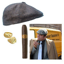 Fancy Dress Unisex Only Fools And Horses Del Boy Adults Party Rings Hat Cigar
