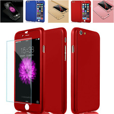 360° Full Body Hybrid Hard Case Cover + Tempered Glass For iPhone 7 7 Plus