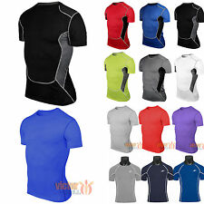 Mens Compression Base Layers Under Fitness Shirt Stretch Running Joggings Jersey