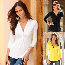 Autumn Fashion Sexy Women Slim Long Sleeve Tops Blouse T-Shirt Casual Blouse w07
