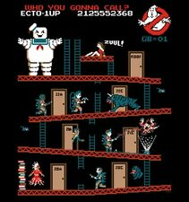 Ghostbusters Super Mario Brothers Donkey Kong Staypuft Marshmallow Man Shirt NEW