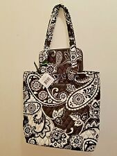 NWT Vera Bradley Tote and Matching Accordion Wallet- MIDNIGHT PAISLEY!!