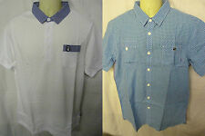 BRAND NEW MENS GIO GOI POLO SHIRT BLUE OR WHITE RRP £35 SHORT SLEEVES STUNNING !