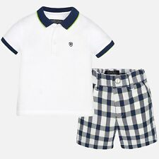 Mayoral Infant Boys Polo shirt and Checked short set ( aged 12,18,24 and 36mths)