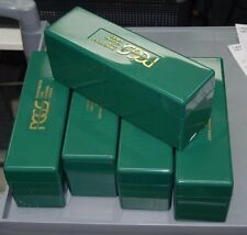 Original Green PCGS 20-Coin Empty Plastic Storage Boxes (lot of 5) - USED