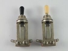 3-Way LONG TOGGLE SWITCH with Black Tip for Les Paul electric guitars
