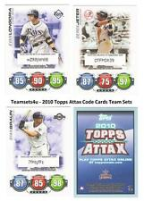 2010 Topps ATTAX Code Cards Baseball Set ** Pick Your Team **