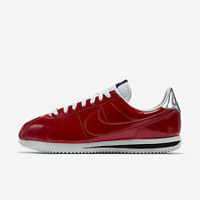 Nike Cortez Basic PREM QS [819721-600] NSW Casual Patent Gym Red/White-Silver