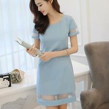 Sexy Women dress fashion dress mini dress Slim dress Short sleeved T-shirt dress