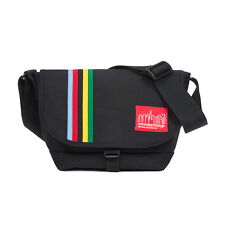 Manhattan Portage Rainbow Stripes Nylon Messenger Bag Jr Small 1605