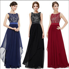 Women's Bridesmaid Evening Gown Formal Party Prom Dress Lace Weding Long Dresses