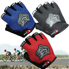 Summer Cycling Gloves Half Finger Bicycle Gel Padded Fingerless Sports Gloves