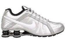 Nike Shox Junior Womens Size Running Shoes Black Silver Sneakers 454339 018