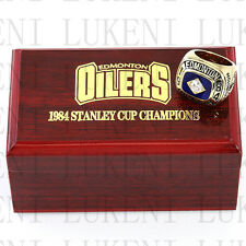 1984 EDMONTON OILERS Stanley Cup Hockey Championship Solid Ring 10-13Size