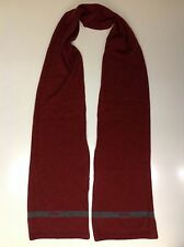 TOMMY HILFIGER Genuine 100% Lambswool Red Men's Scarf Excellent Condition