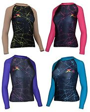 X-2 Women's Long Sleeve UV Sun Protection Basic Skins Rashguard Top