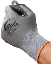 Grey Unisex Work Polyester Gloves-Thorn Resistant, Breathable,Heavy Duty Coated.