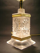 Fine LALIQUE France Frosted Crystal Lamp
