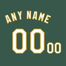 MLB Oakland Athletics Alternate Green Jersey Customized Number Kits un-sewn