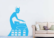 Dance Wall Stickers Dj Full Vinyl Decal 15 Colours 01903