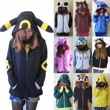 Hot!!!Anime Pokemon Hoodie Hooded Sweatshirt Hoody Jacket Coat Cosplay Costume
