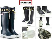 Stunningly Beautiful Hunter Thurlestone Navy Rubber Rain Boots US 6 EU 37 Rare