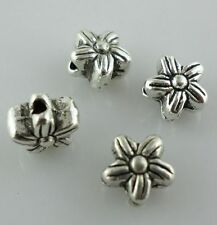 80/650pcs Tibetan Silver 5x6mm Charms Flower Spacer Beads Jewelry Findings