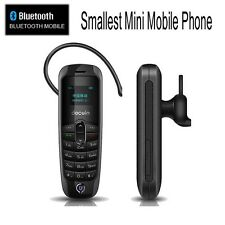 2 in 1 Tiny Worlds Smallest MINI Mobile Cell Phone Sim Bluetooth Headset in-ear