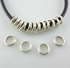 200/1600pcs Tibetan Silver Round Circle Jump Ring Spacers Beads Jewelry Findings