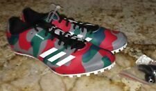 NEW Mens 8.5 9 11 ADIDAS SprintStar Camo Green Red Grey Track Field Spikes Shoes