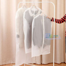 3 Sizes Clear Garment Dress Suit Clothes Coat Cover Protector Travel Bag Zip Bag