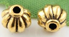 Free Ship 30Pcs Gold Plated  Lantern Spacer Beads  Findings 8mm
