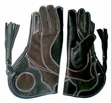 Falconry Glove Triple Skinned Nubuck Leather 12 Inches Long 3 Layers (All Sizes)