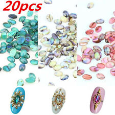 20XNail Art Acrylic Colorful Shell Pattern Glitter DIY Decoration Jewelry Beauty